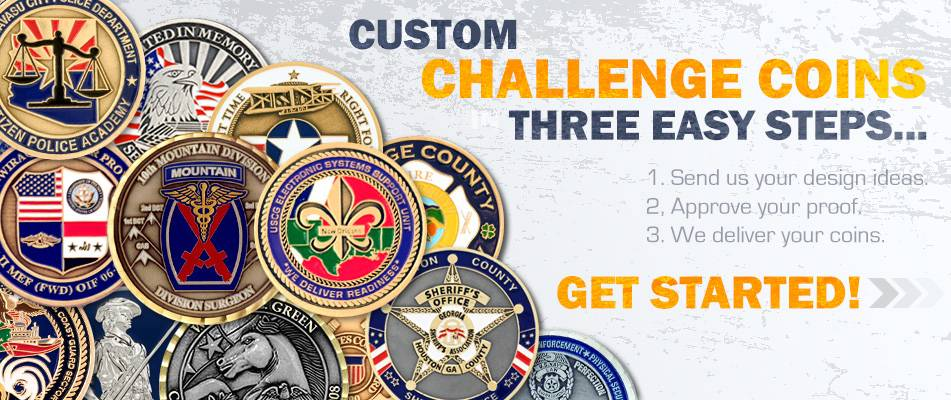 Custom Challenge Coins for Safety Banner