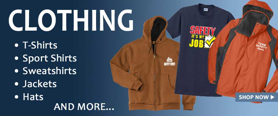 T-shirts, hats, jackets and more! Stylish, quality clothing is among the most popular safety award, incentive recognition gifts.