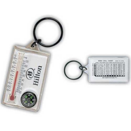 Compass/Thermometer Keytag