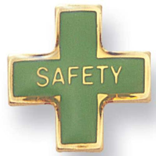 Safety Cross- Lapel Pin