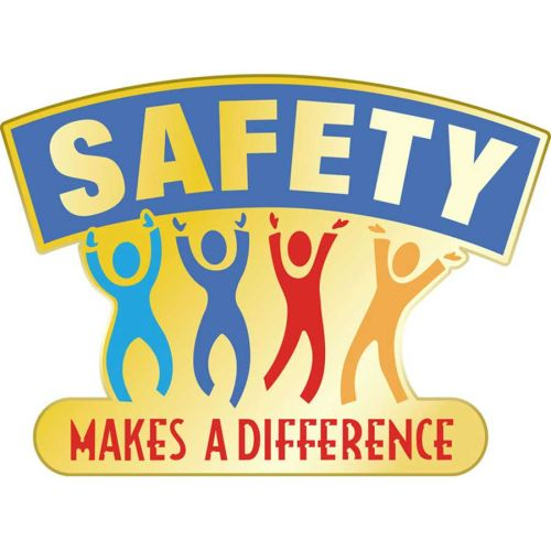 AD010434S Safety Makes a Difference - Lapel Pin
