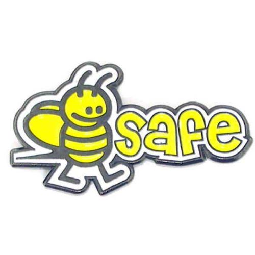 AD010513S Bee Safe Lapel Pin