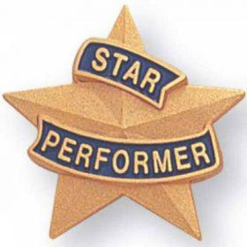 AD010790-CM Star Performer -Lapel Pin