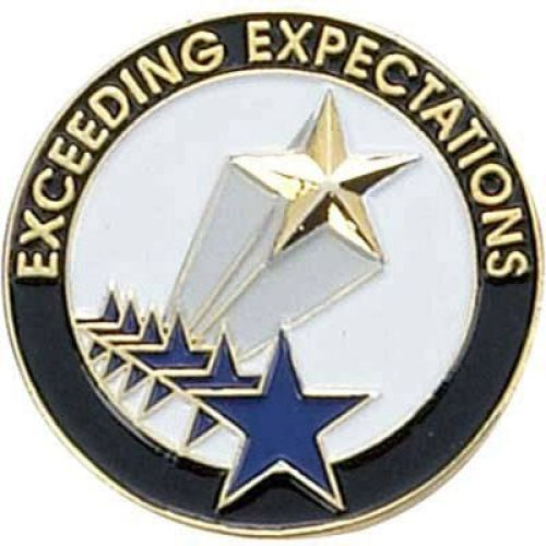 AD010792-CM Exceeding Expectations - Lapel PIn