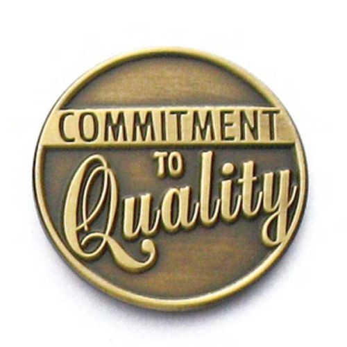 AD010794-C Commitment to Quality - Lapel Pin