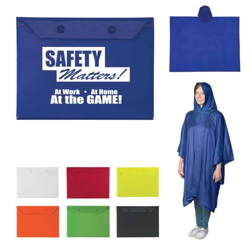 Midweight Rain Poncho in Pouch