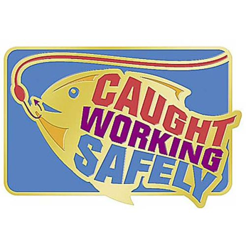 AD010950S Caught Working Safely Lapel Pin