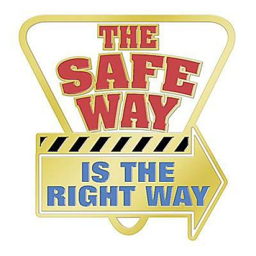 The Safe Way Is The Right Way - Lapel Pin