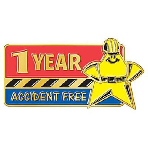 1 Year Accident Free Lapel Pin