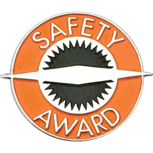 Round Safety Award - Lapel Pin