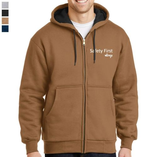 CornerStone® - Heavyweight Full-Zip Hooded Sweatshirt with Thermal Linin