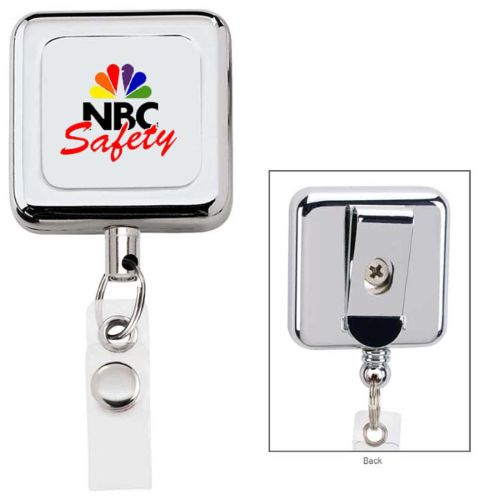 Deluxe Chrome Badge Holder