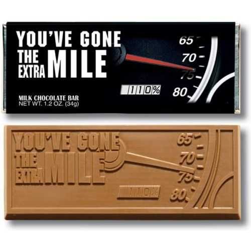 """YOU'VE GONE THE EXTRA MILE""  Chocolate Bar"