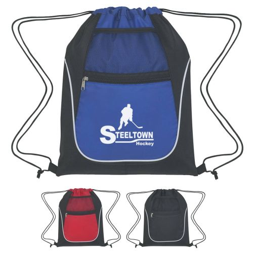 Drawstring Sport Bag w/ Pockets
