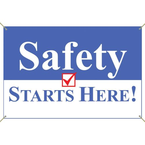 Safety Starts Here! Banner