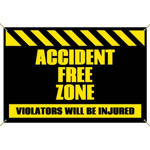 Accident Free Zone Banner
