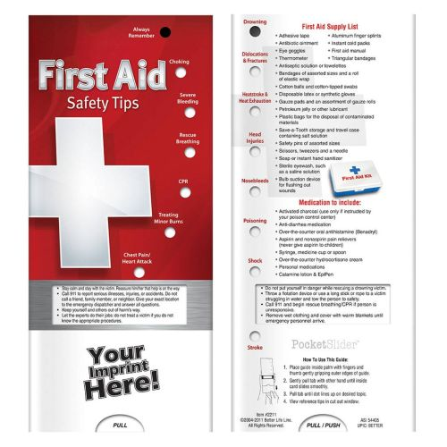 AD012284 First Aid SAFETY TIPS Slide Chart