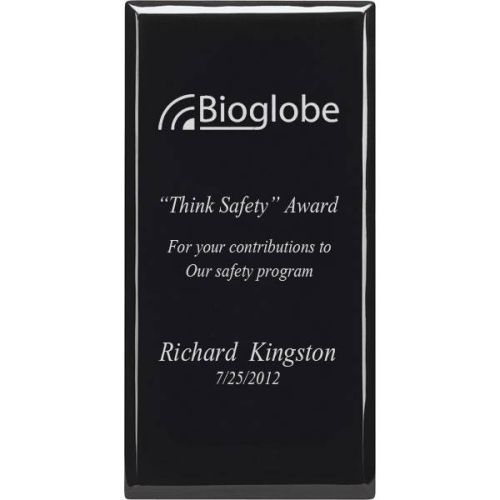 AD012521 Black Safety Plaque