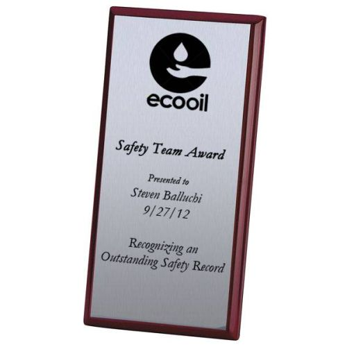 Rosewood Safety Recognition Plaque