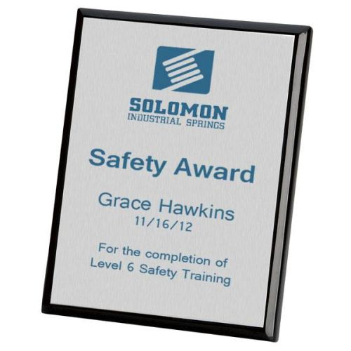 AD012532 Black Safety Recognition Plaque
