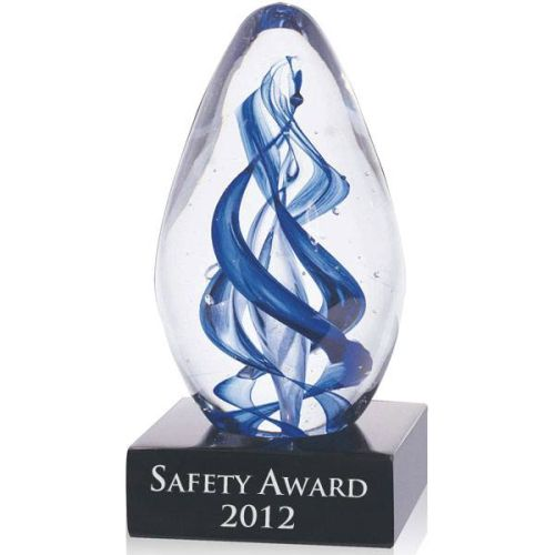 Gemini Swirl Glass Safety Award