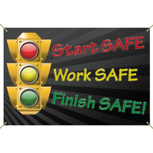 AD012543 Start, Work, Finish SAFE Banner
