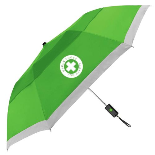 AD012597 Windproof Reflective Safety Umbrella