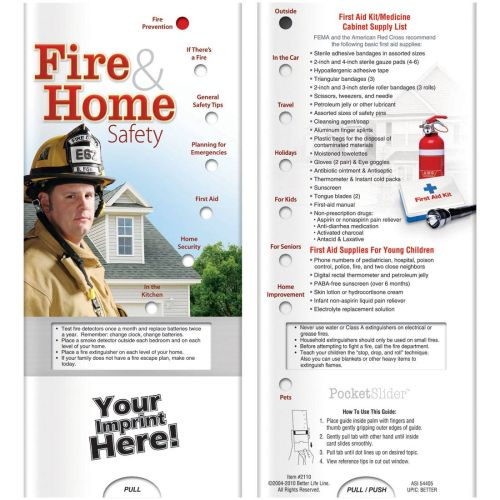 AD012800 Fire & Home Safety Slide Chart