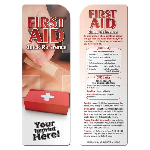 AD012805 First Aid Quick Reference Bookmark
