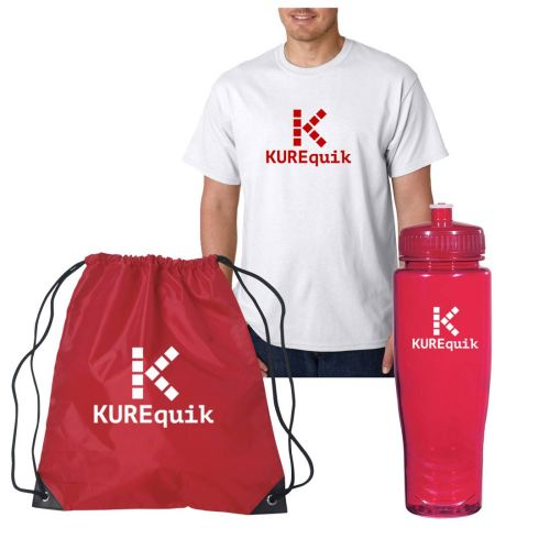 T-Shirt, Sport Bag & Water Bottle Set