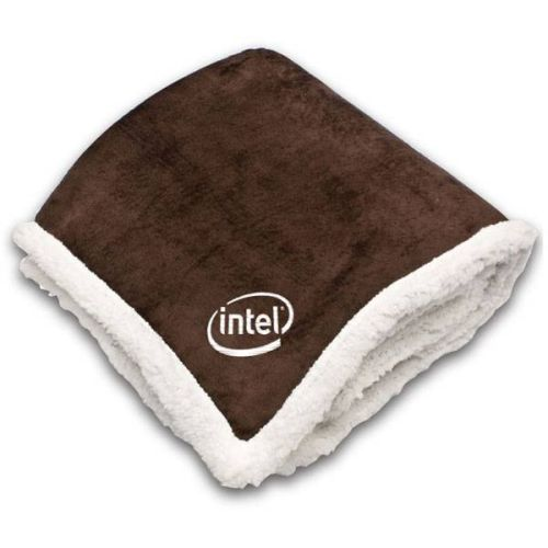Jumbo Size Mink Sherpa Throw Blanket
