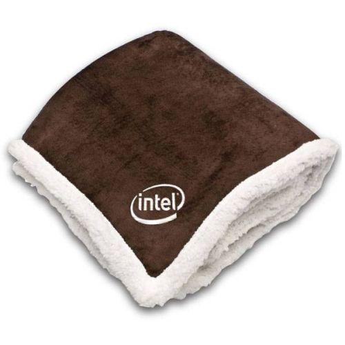Jumbo Size Mink Sherpa Throw Blanket
