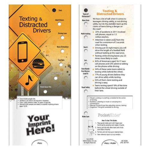 Text & Distracted Drivers Pocket Slider