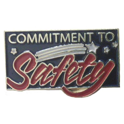 AD013233S Commitment To Safety Lapel Pins