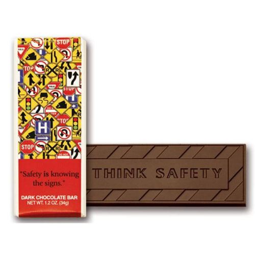 """Safety Is Knowing the Signs"" Chocolate Bar"
