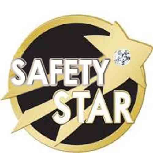AD010383  Safety Star Diamond - Lapel PIn