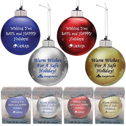 Glass Ornament - Lights Up!