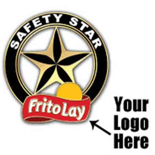 "AD013810 ""Safety Star"" Lapel Pin - Add Your Logo"