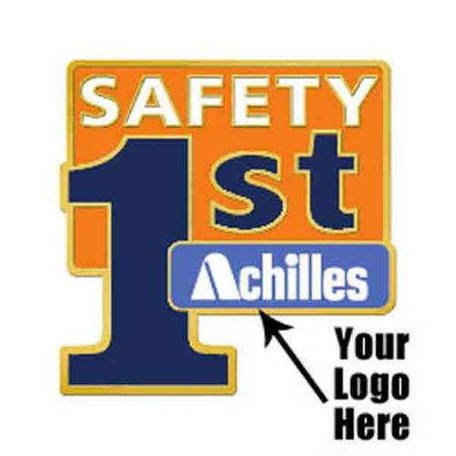 "AD013811 ""Safety 1st"" Lapel Pin - Add Your Logo"