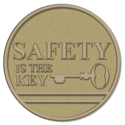AD013824 Safety is the Key Lapel Pin