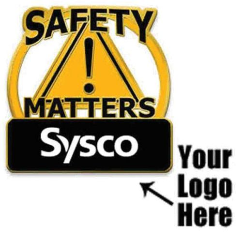 "AD013826 ""Safety Matters"" Pin w/ Your Logo"