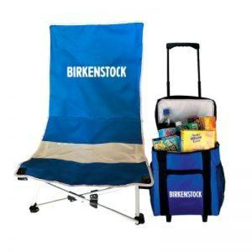 Beach Chair & Cooler Set