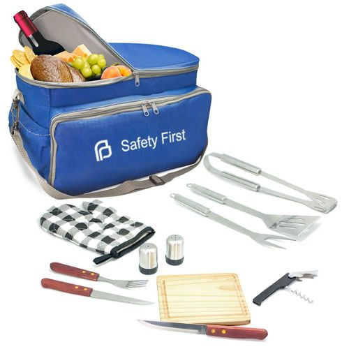 AD013883 12 Pc Insulated BBQ & Picnic Bag