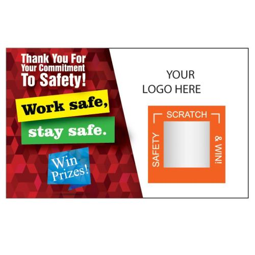"""Safety Pays""  Scratch Off Cards w/Logo"