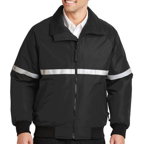 AD010268 Port Authority® Jacket/ Reflective Taping