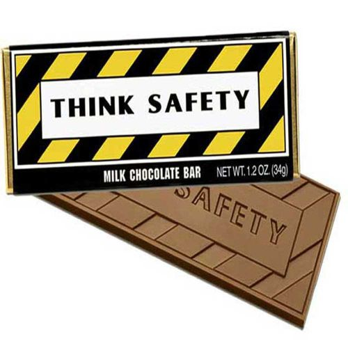 AD010299 Think Safety Chocolate Bar