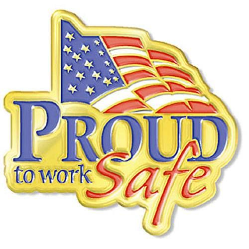 AD010954S Proud To Work Safe - Lapel Pin