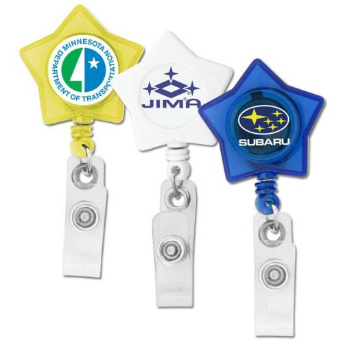 AD011544 Star Retractable Badge Holder