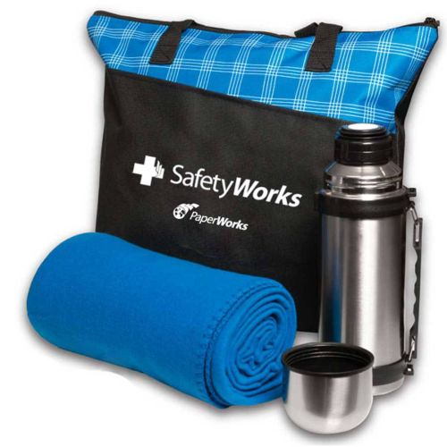 AD012967 Tote,Thermos & Blanket Set