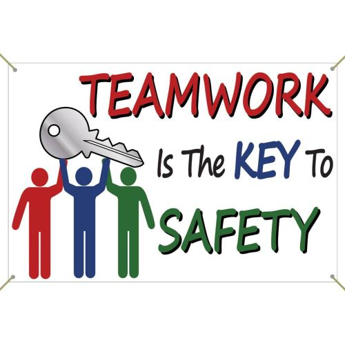Teamwork Is The Key To Safety - Banner